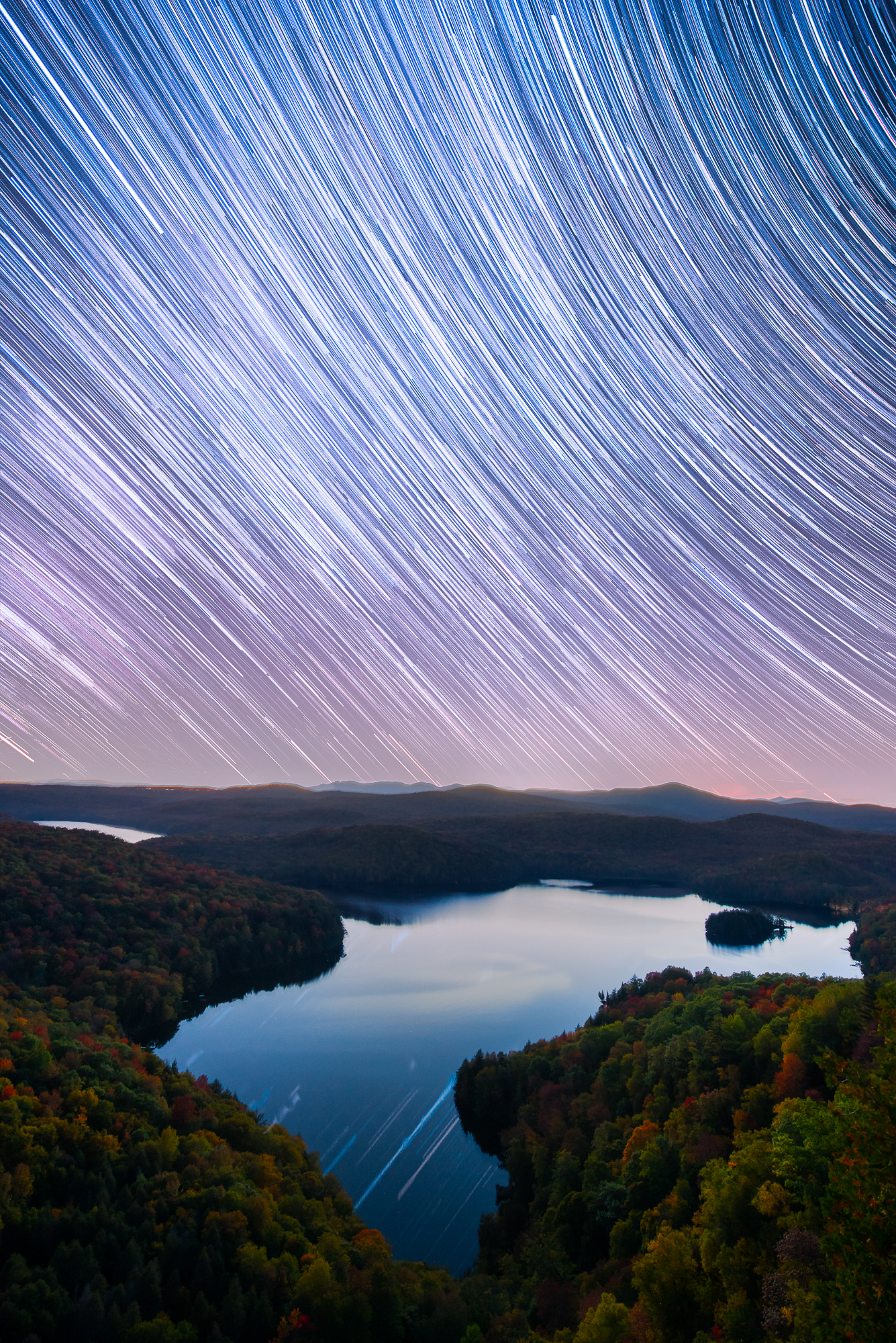 Vermont Star Trails in Fall